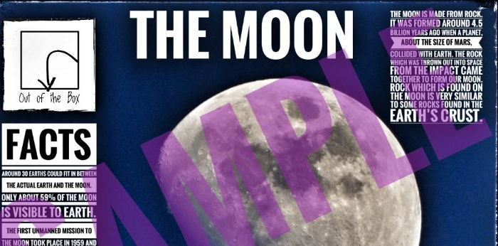 The Moon. Information Poster