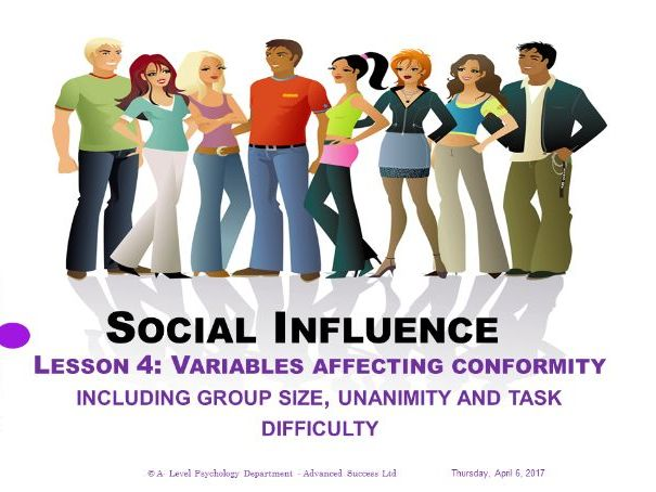 Powerpoint - Social Influence - Lesson 4 - Variables affecting conformity