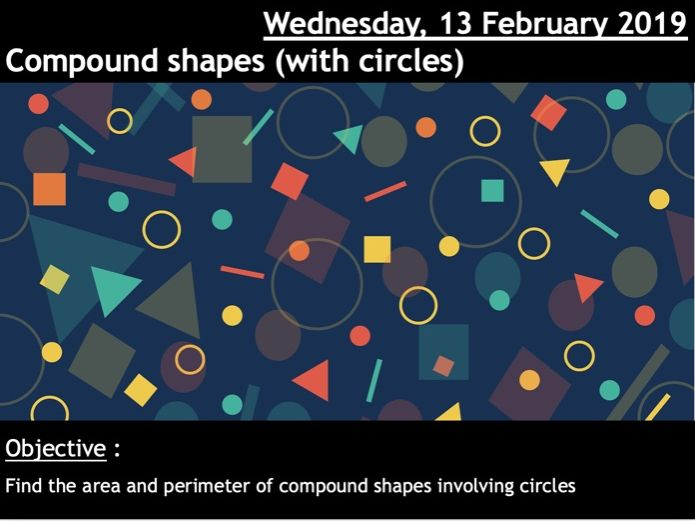 Areas of compound shapes (with circles)