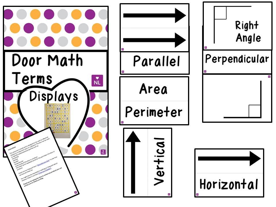 FREE Door Mathematical Terms (Display)