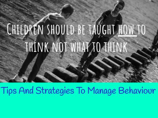 Behaviour Management Tips