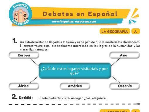 Geografía - Debates in Spanish
