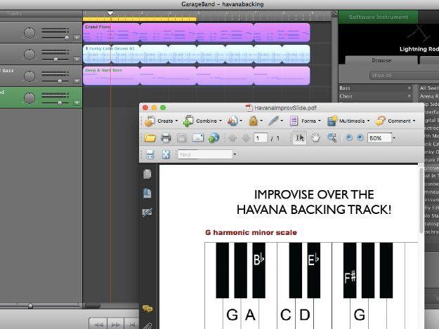 KS3 MUSIC LATIN IMPROVISATION GARAGEBAND HAVANA CAMILLA CABELLO *mac users only*