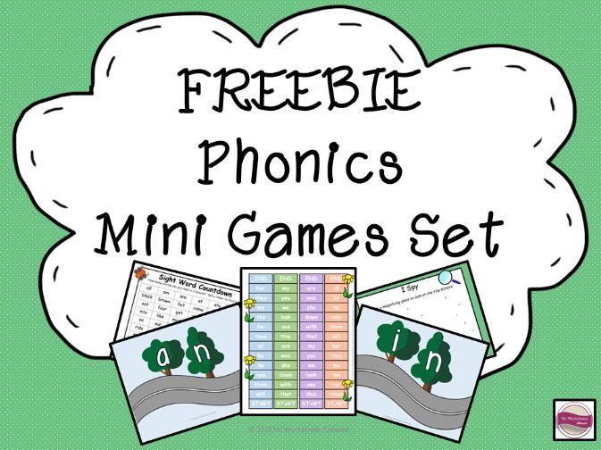 Phonics Mini Games Pack Freebie