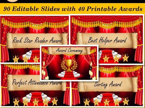 Graduation Awards/ Grade Completion 40 Printable Awards - 90 Digital Slides