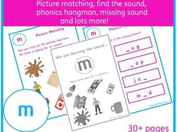 'm' Sound Phonics Bundle | Phonics Resources | Phonics Worksheets | CVC Words