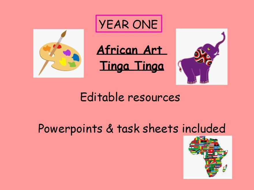 Tinga Tinga Art African Art FULL UNIT PLANNING EDITABLE
