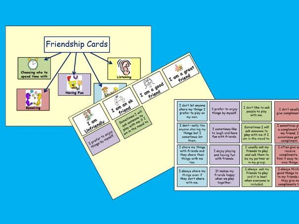 Friendship Card Sort PSHE Lesson