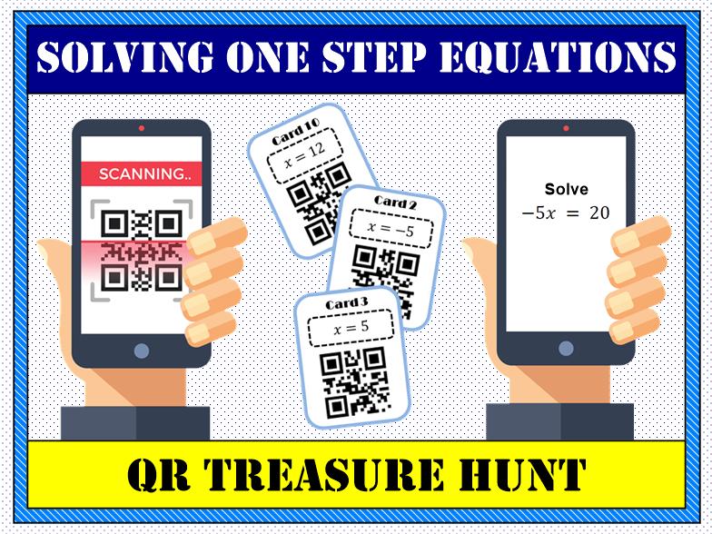 💡 Solving One Step Equations QR Treasure Hunt 📱