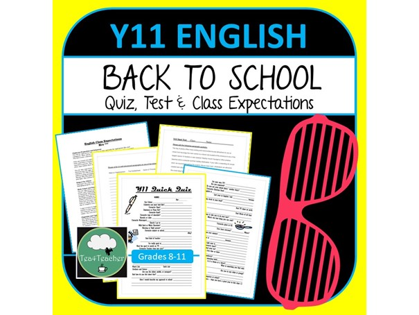 Get To Know You Quiz & Starting Out Diagnostic Test - Year 11 English