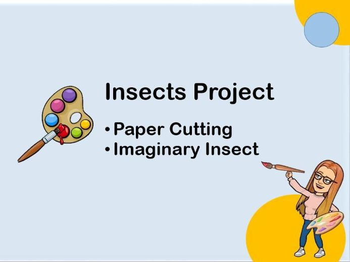 Imaginary Insect Paper Cutting Activity