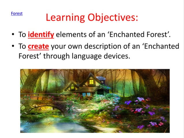 Creative writing: create a description of an 'Enchanted Forest'.