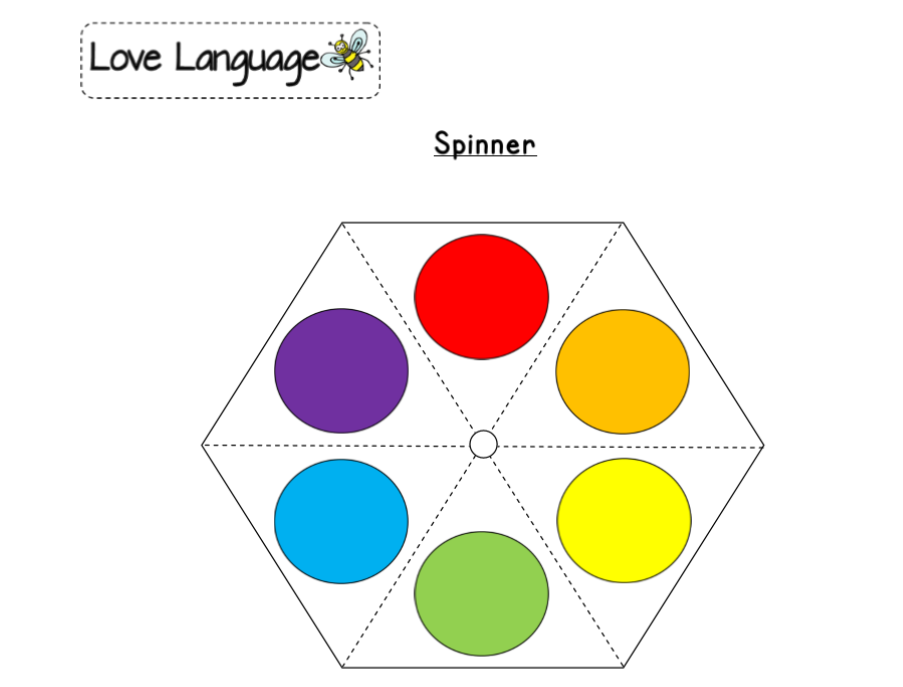 Colours in Spanish - spinners