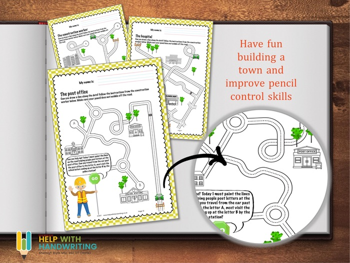 Build a town handwriting workbook