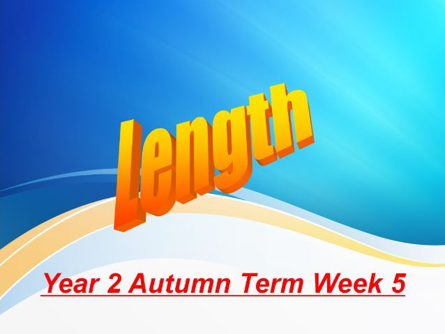 Year 2 Autumn Week 5 Numeracy Lessons - Using length