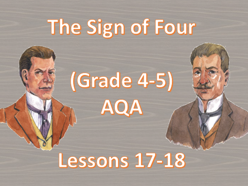 Chapter 10 - Lessons 17-18 (The Sign of Four)