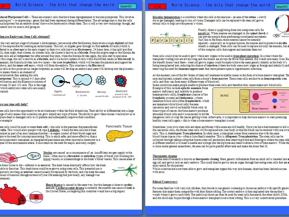 Stem Cells - entire topic info pack