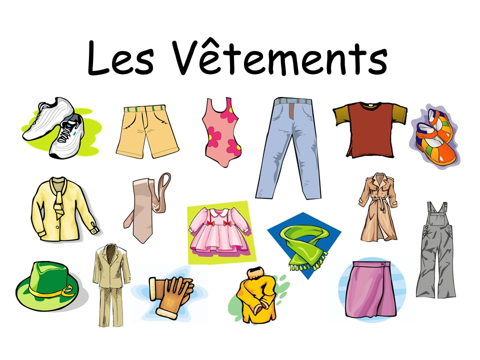 Les Vêtements Presentation (Flashcards)FRENCH