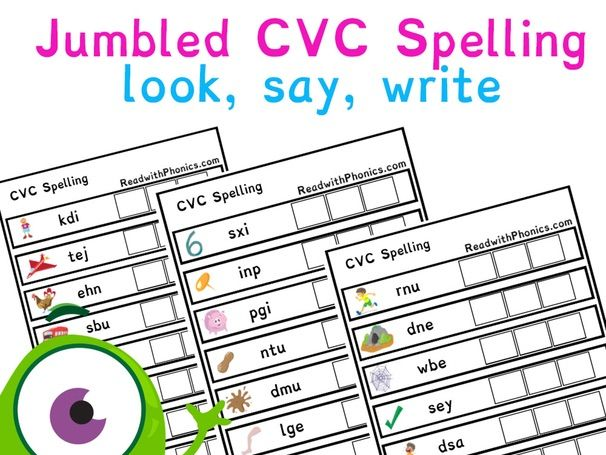 JUMBLED CVC Spelling with pictures | Phonics Resources | EYFS |  Year 1 | Phonics Games