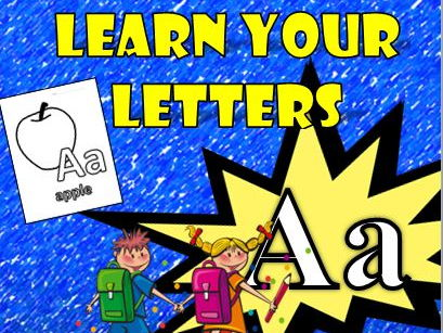 Letters Learn Your ABC's A-Z Worksheets: Great to color and learn sight words!