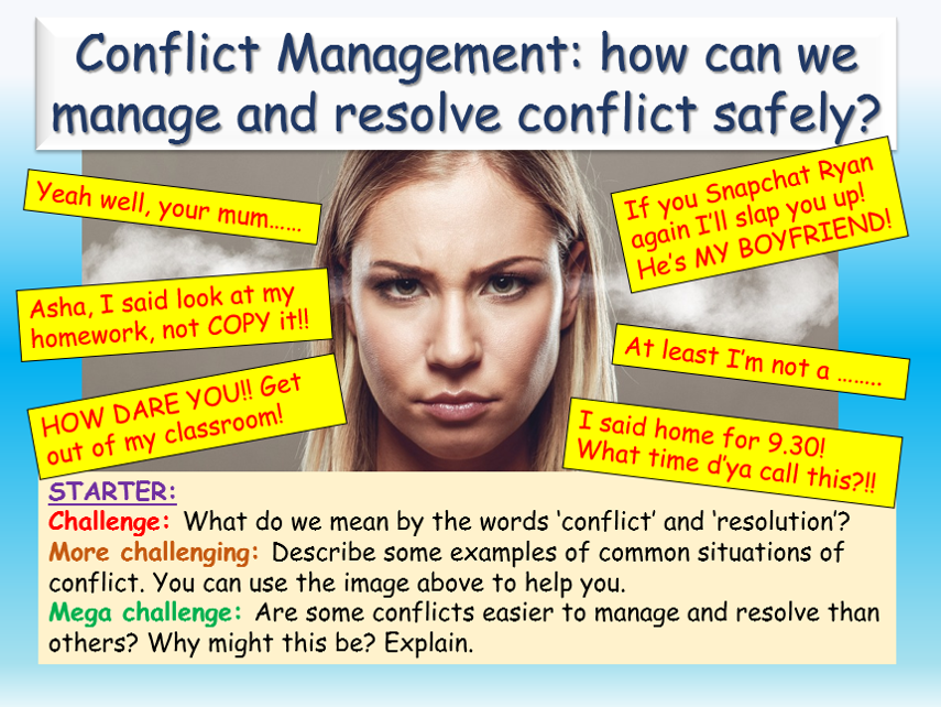 Conflict Management / Resolution