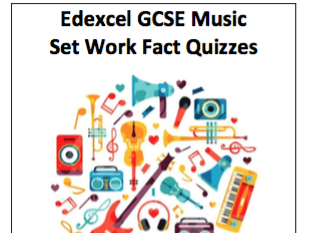Edexcel GCSE Music - Set Works Fact Quizzes - all set works