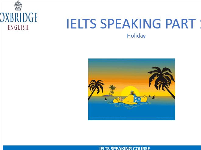 IELTS Speaking  Powerpoints 20+