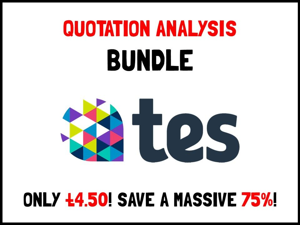 Quotation analysis bundle