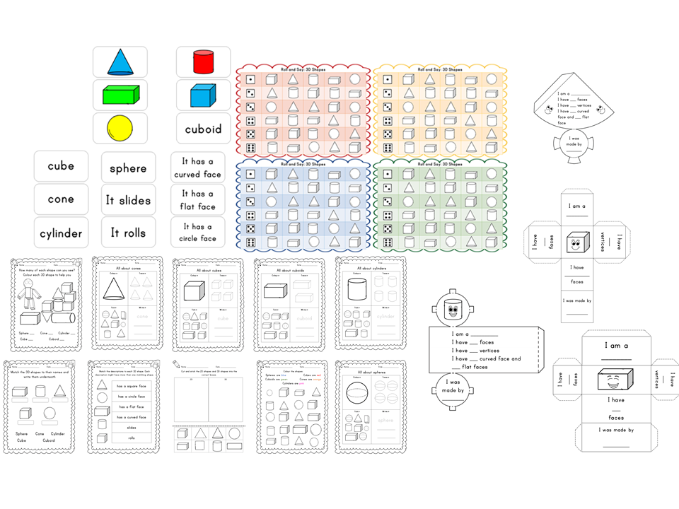 Year 1 3D Shapes Pack