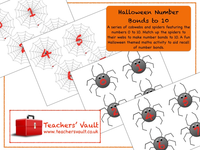 Halloween Number Bonds to 10