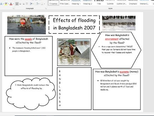 Bangladesh Research Lesson - Includes Extra Differentiated Worksheet