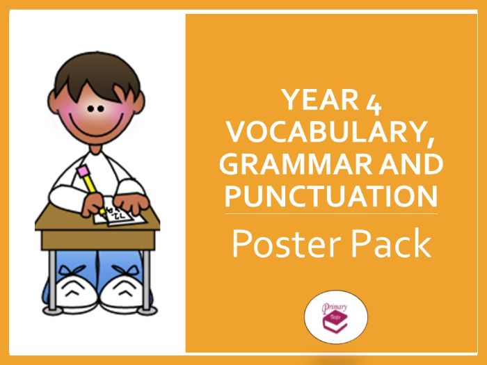 Year 4 SPAG Poster Pack