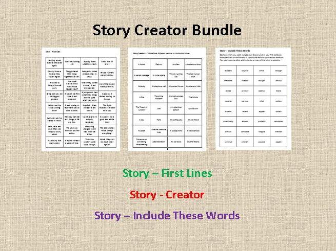 Story Creator Bundle