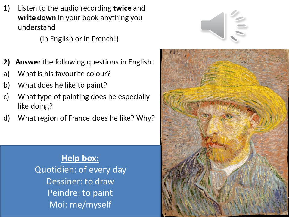 French - KS3 - Culture - La peinture - Painting - CLIL - Van Gogh