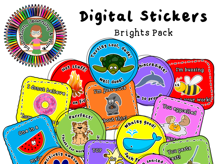Digital Stickers [1] for Google Classroom, SeeSaw & Distance Learning Platforms