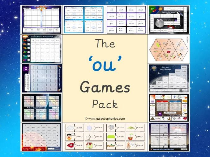 The 'ou' (as in cloud) Phonics Games Pack (Phase 5)