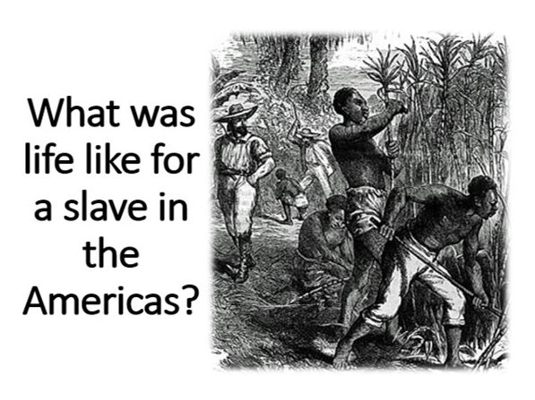 What was life like for a slave in the Americas?