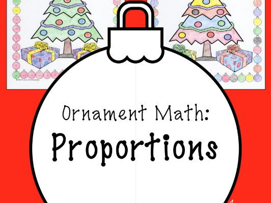 Christmas math Surprise - Proportions Coloring Page