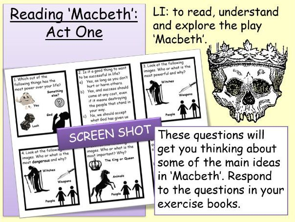Macbeth: Act 1 for Lower Ability