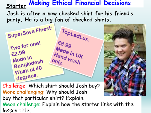 Financial Education: Ethical Trade / Sweatshops