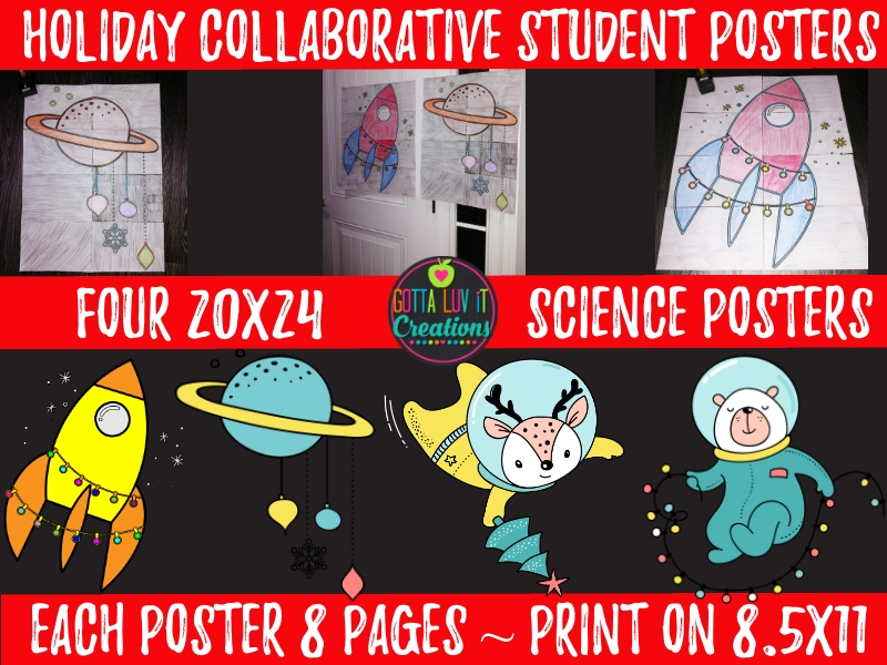 Holiday Themed Collaborative Student Posters for the Science Classroom