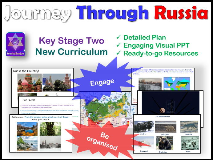 Journey Through Russia Geography KS2 Physical Features
