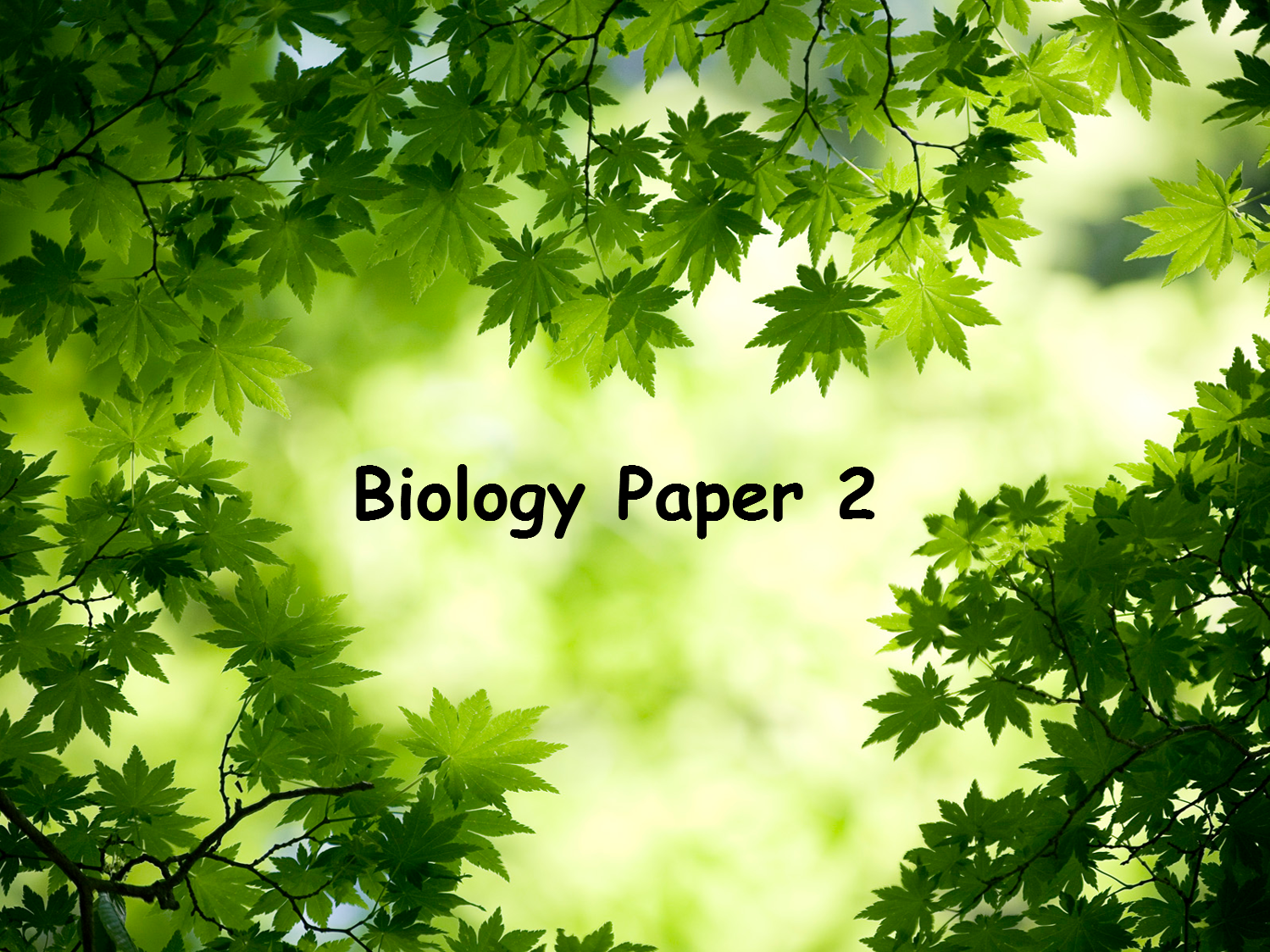 Edexcel Combined Science Biology 2 Revision Worksheets