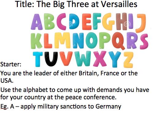 Treaty of Versailles Complete Scheme of Work