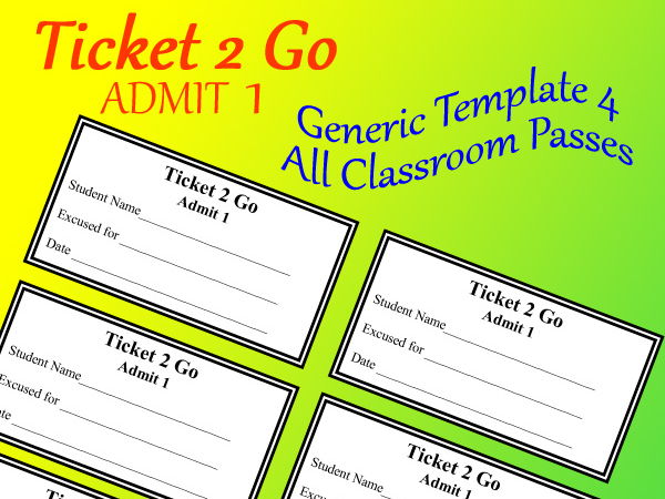Ticket 2 Go > All Occasion Pass or Reward Cards! > EDITABLE Doc + Original PDF