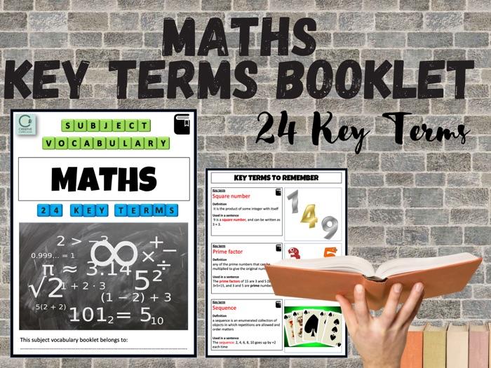 Maths SEN Key Terms Booklet