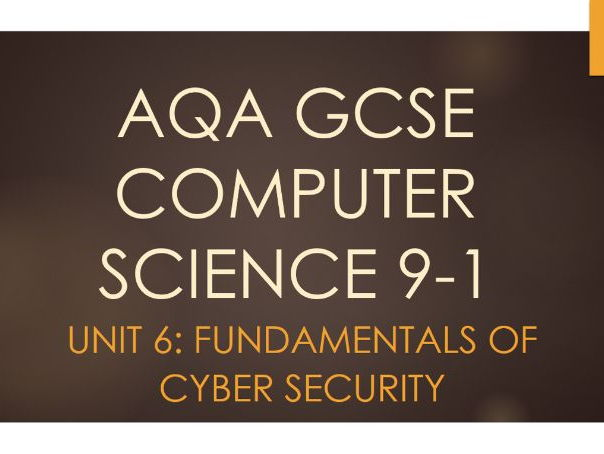 Unit 6: Fundamentals of Cyber Security - AQA GCSE Computer Science 9-1 (8520)
