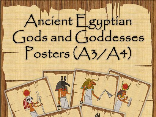 Ancient Egypt Gods and Goddesses Posters