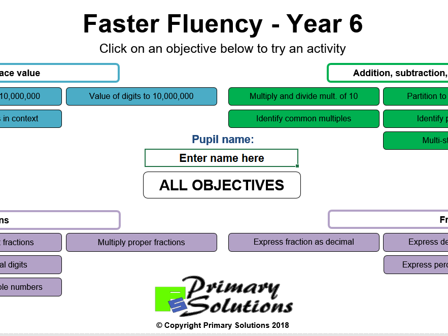 Faster Fluency - Year 6