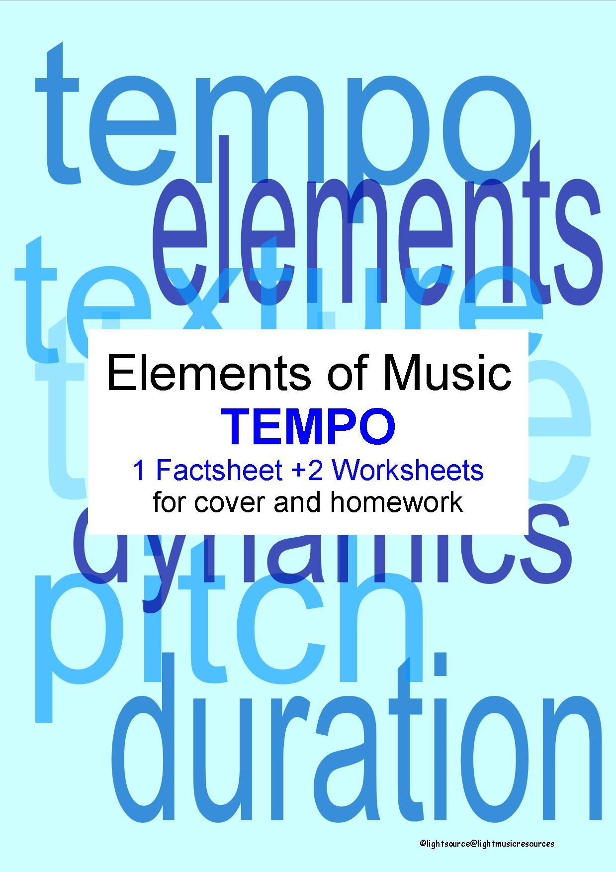 Tempo: 2 worksheets and 1 factsheet by rosharlingmusic - Teaching ...